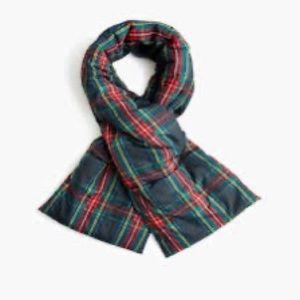 nwt jcrew tartan puffer scarf k6255